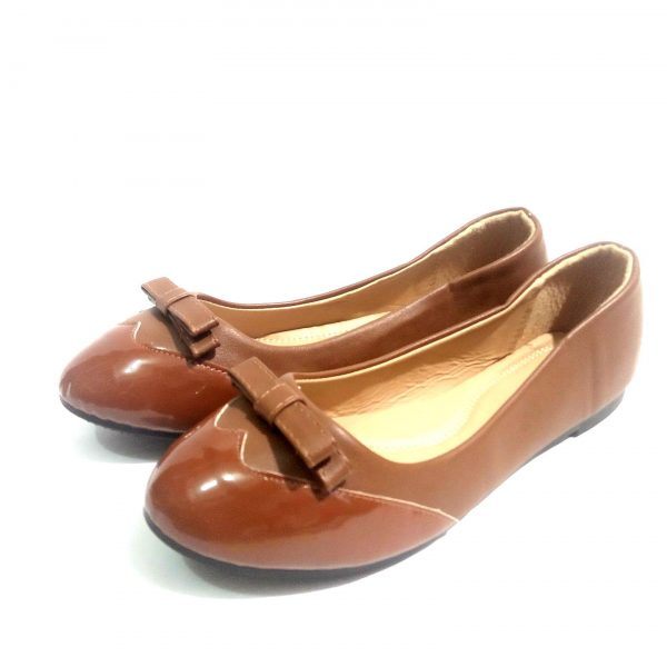 Brown down shoes for ladies