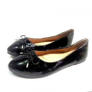 Black Suede flat shoes for ladies
