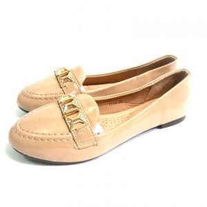 Light Brown suede down shoe for ladies