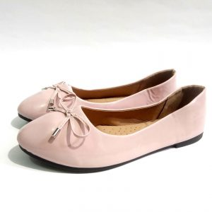 Pink Suede leather down shoes for ladies