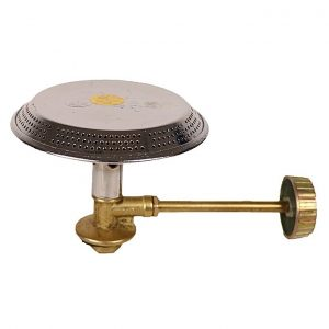 Gas burner top and control valve