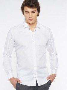 Halo Long Sleeve Slim Fit Official shirt- White