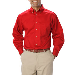 St. Philip Long Sleeve Slim Fit Official shirt- Red