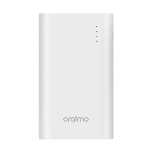 Oraimo Toast-8 8000mAh Ultra Slim 2.1A Fast Charging Power Bank LED Torch Portable Charger